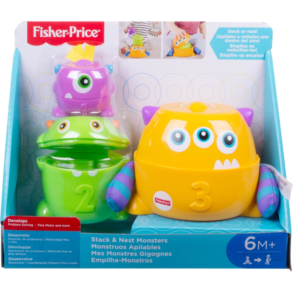 Fisher Price Stack And Nest Monsters Learning