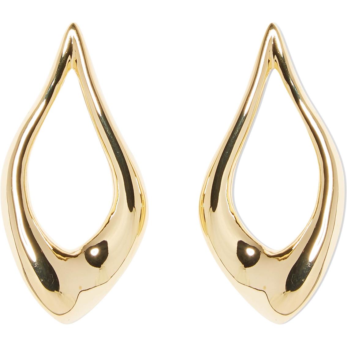 eaa3913ec62 Vince Camuto Goldtone Organic Shaped Polished Metal Post Earrings ...