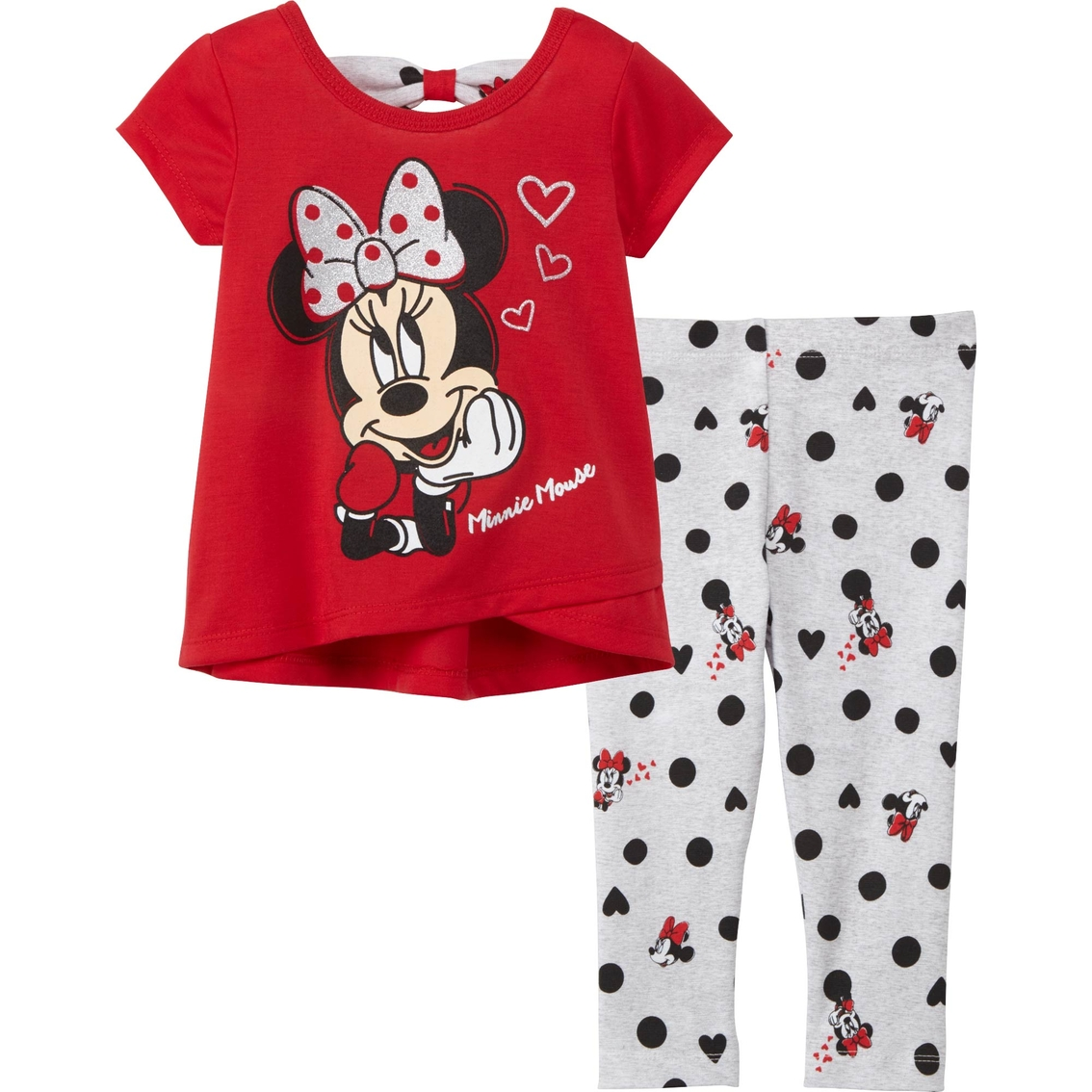 2bc867fdfc550 Disney Infant Girls Minnie Mouse Shirt And Leggings Set