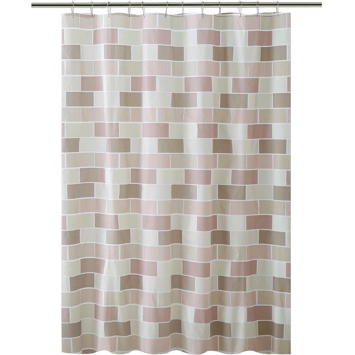Bath Bliss Tile Design Shower Curtain Shower Curtains Hooks