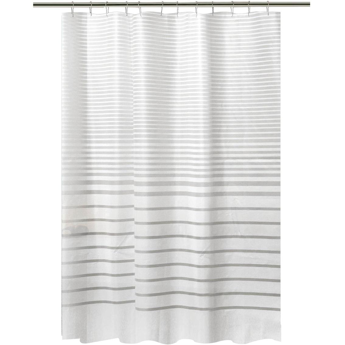 Bath Bliss Stripe Design Shower Curtain Shower Curtains Hooks