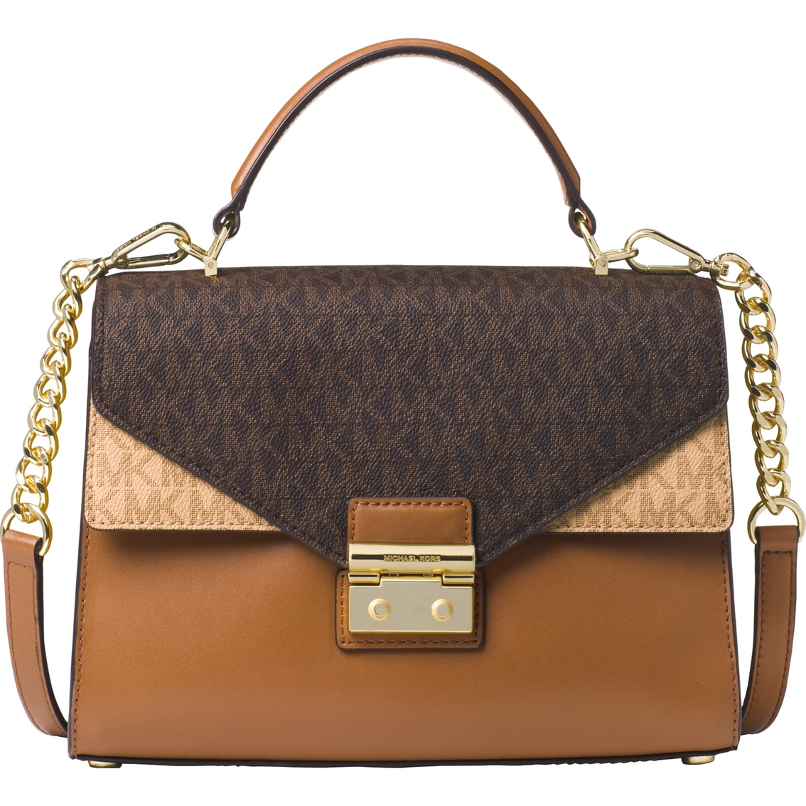 83a3eccbd2fe0 Michael Kors Sloan Medium Double Flap Satchel