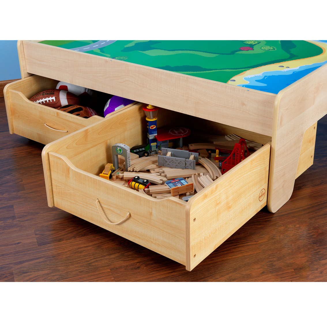 Kidkraft trundle drawer for train table dressers for Table kidkraft