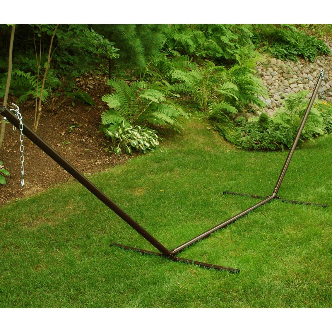 Single point hammock stand