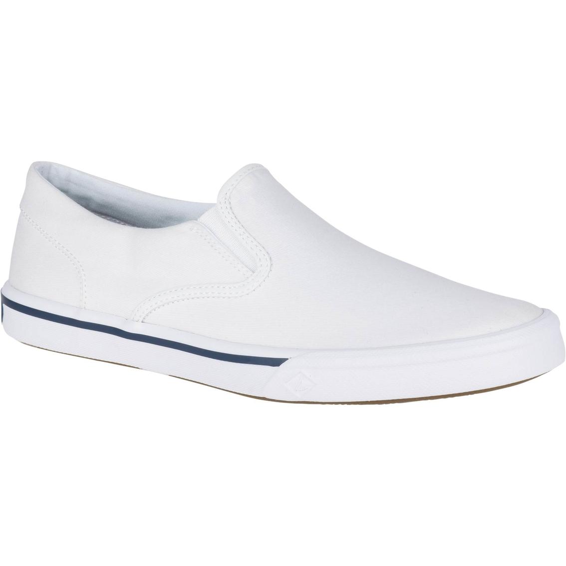 e01b5c8135 Sperry Men s Striper Ii Twin Gore White Sneaker