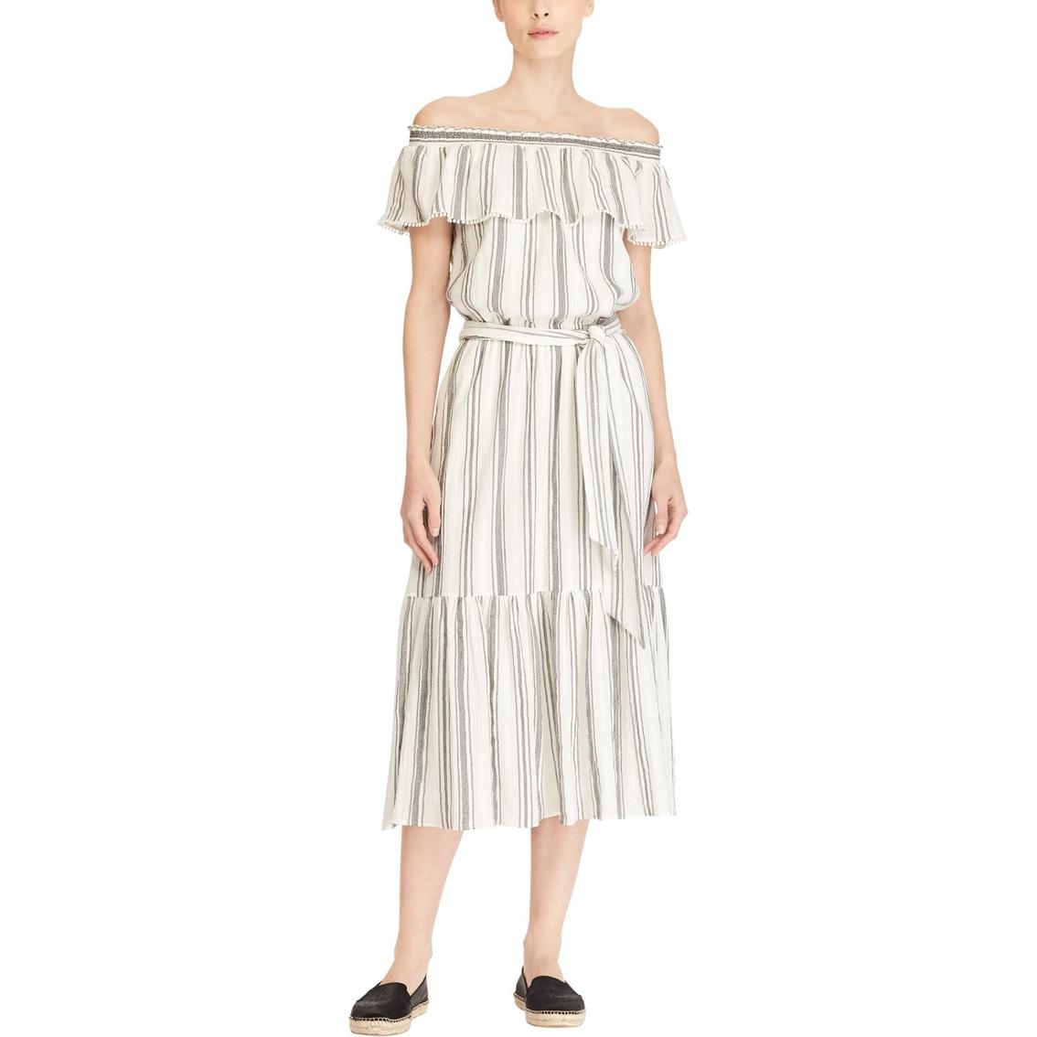 6ed5953d47 Lauren Ralph Lauren Sahara Stripe Beach Inspired Maxi Dress ...