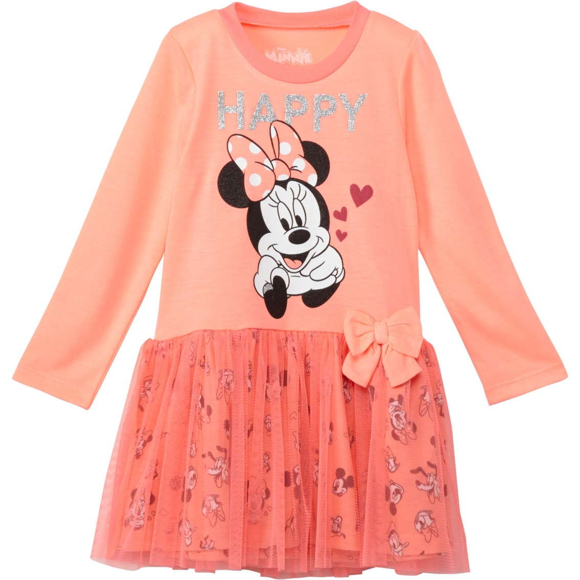 61ca7dfc Disney Toddler Girls Minnie Mouse Happy Tulle Dress | Toddler Girls ...