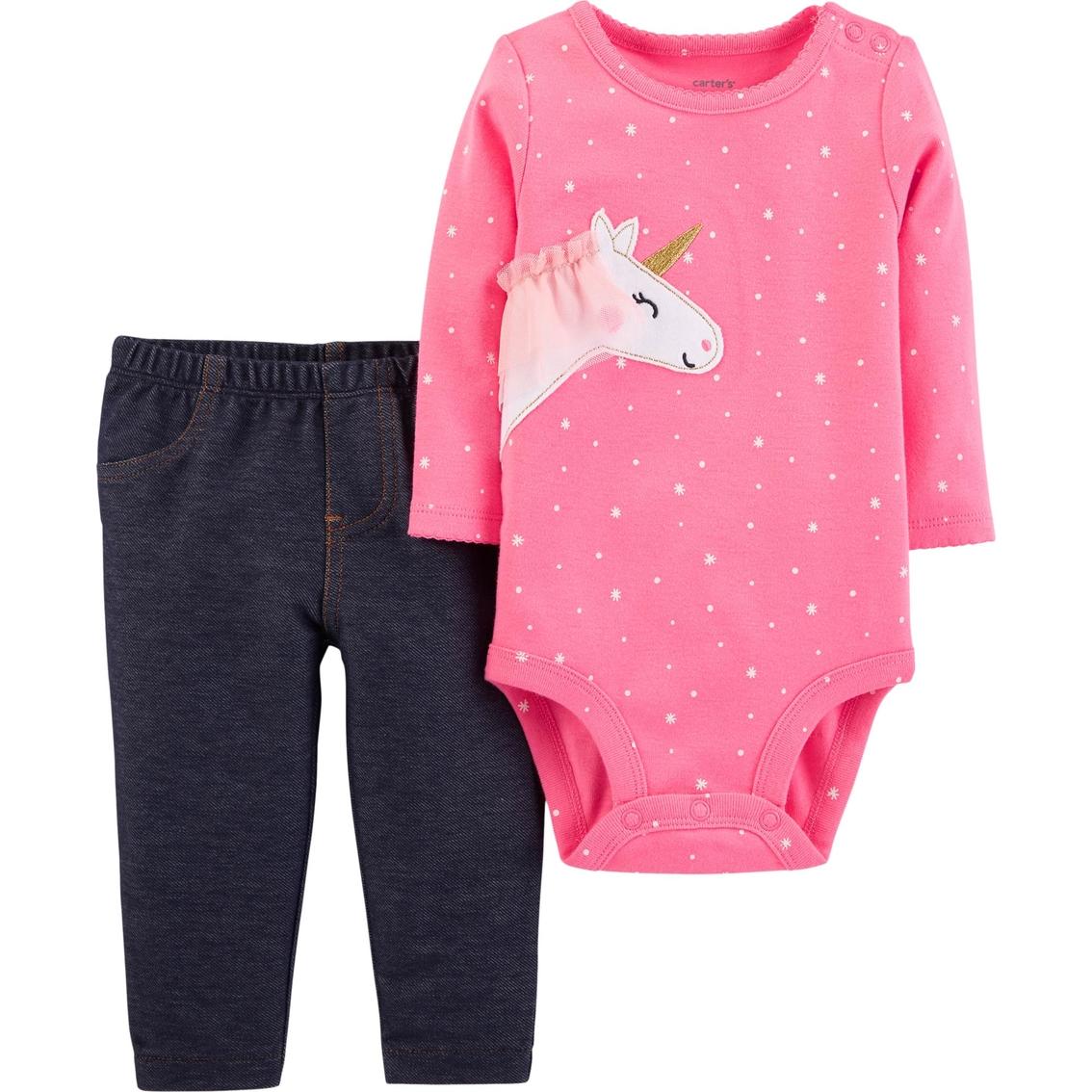 5f6715351 Carter s Infant Girls Unicorn Bodysuit 2 Pc. Pants Set
