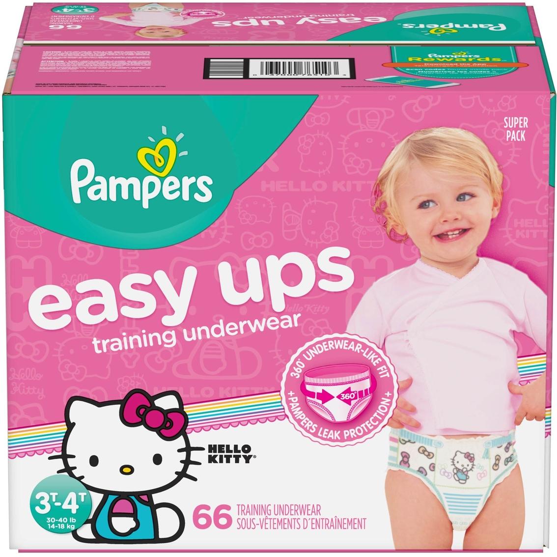 78ae9ec7ffc Pampers Girls Easy Ups Training Underwear Size 3t-4t (30-10 Lb.) 66 ...