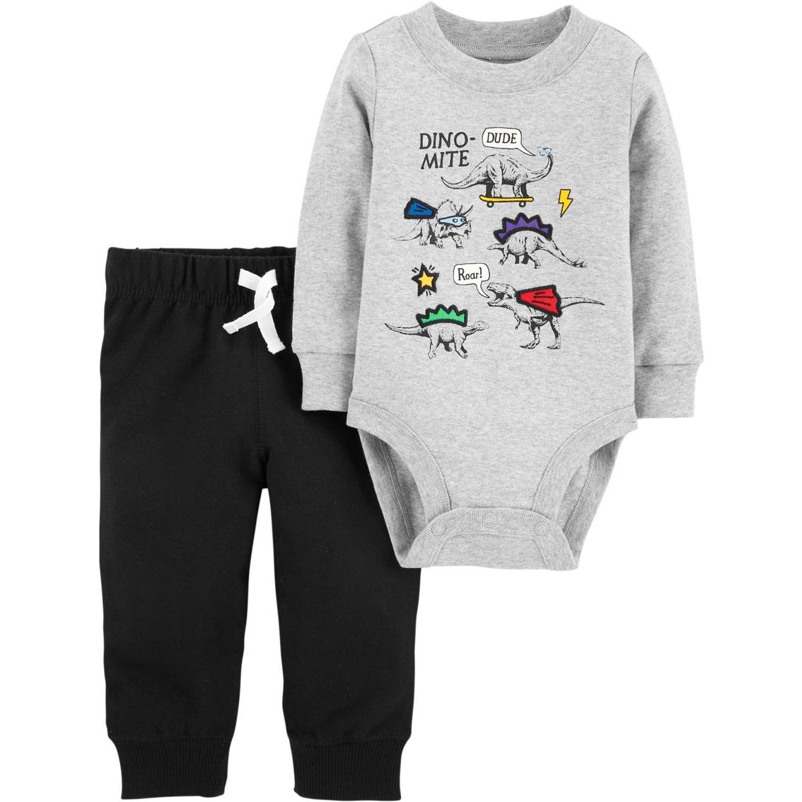b6ea400bf Carter's Infant Boys Dino Mite 2 Pc Bodysuit Pant Set | Baby Boy 0 ...
