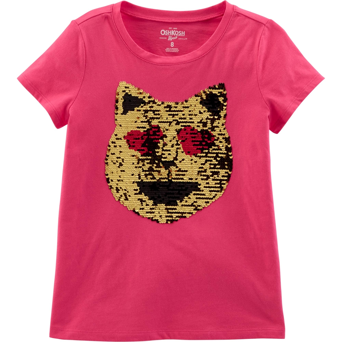 OshKosh BGosh Baby Girls Sequin Short Sleeve T-Shirt