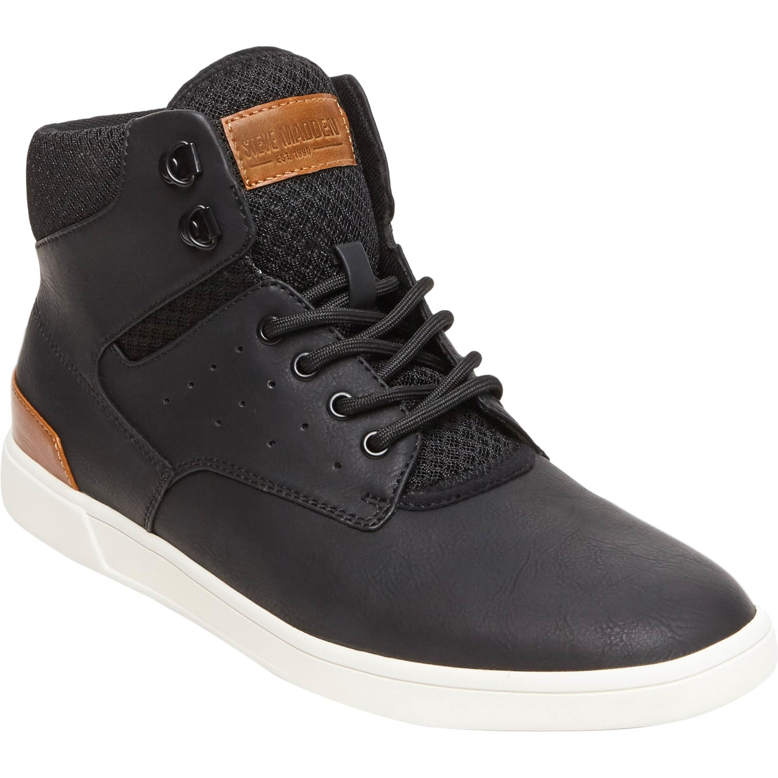 7f8de6218c3 Steve Madden Men's Fridged Black Shoes | Casuals | Back To School ...