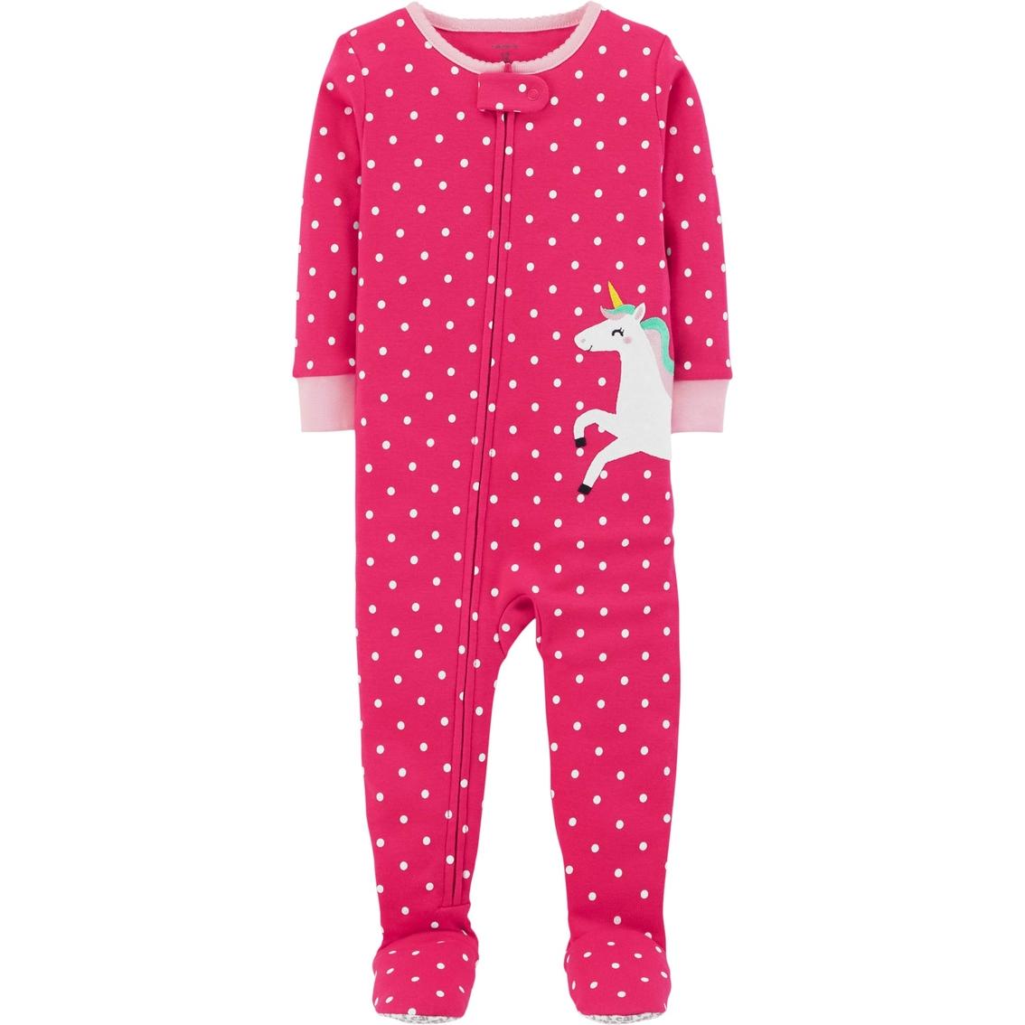 026bbdfa6 Carter s Infant Girls 1 Pc. Unicorn Polka Dot Snug Fit Pajamas ...