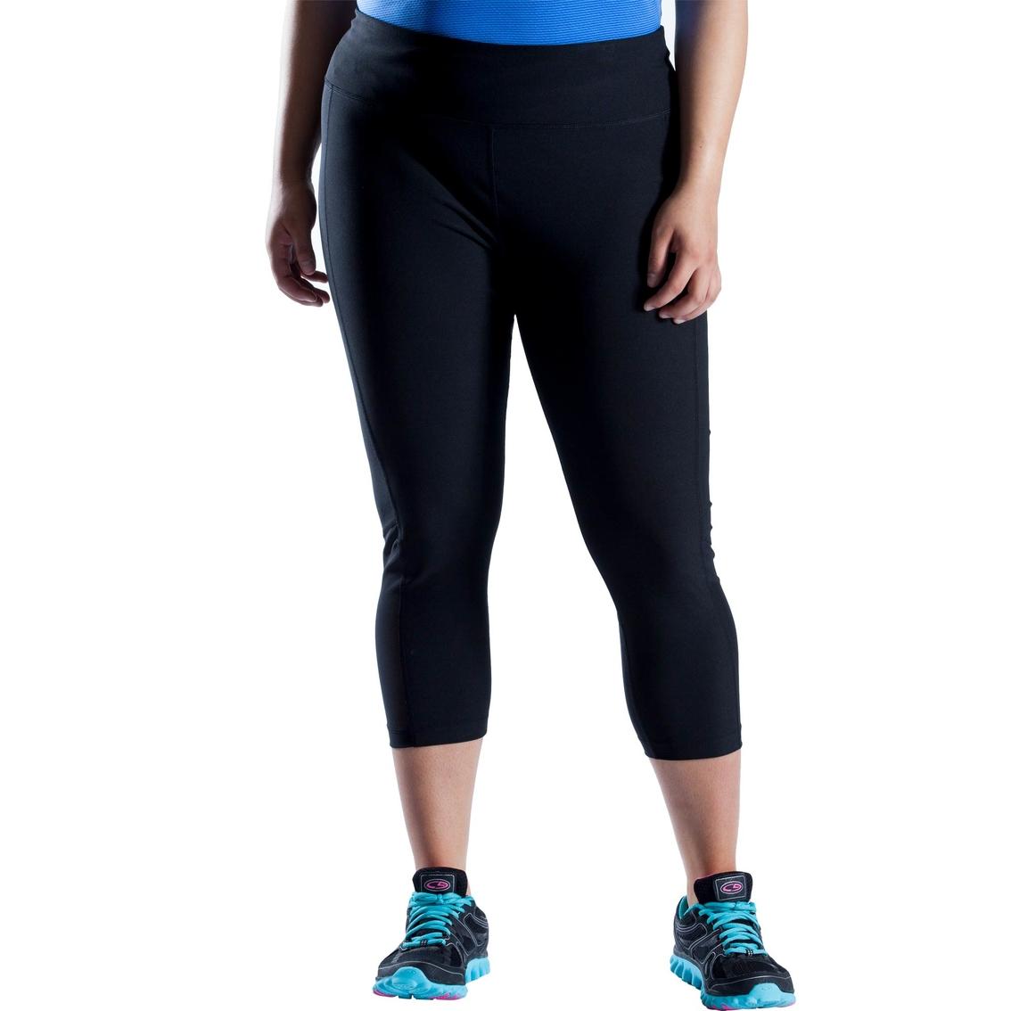 a159e3a84e4c0 Pbx Pro Plus Size Performance Jersey Mesh Cropped Pants