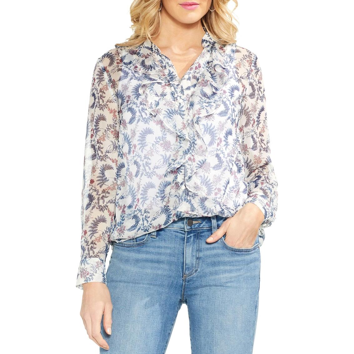 a67887ba86c10a Vince Camuto Ruffle Front Boutique Floral Blouse   Blouses & Tunics ...