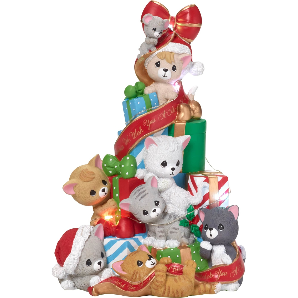 Precious Moments Cats And Mouse Led Christmas Tree Musical