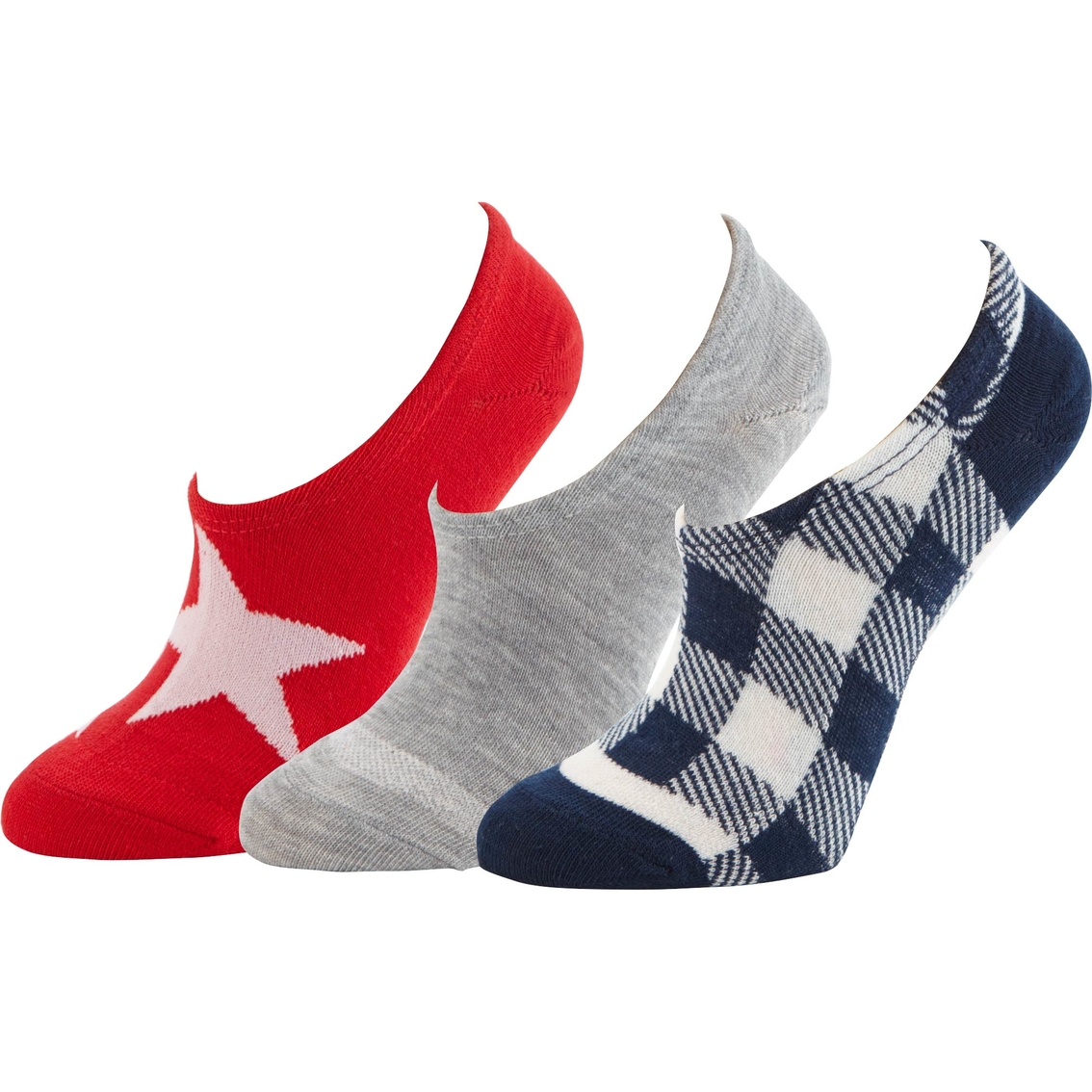 d849dd4a5a99 Converse Buffalo Check Combo Ultra Low Hidden Sock Liners 3 Pk ...