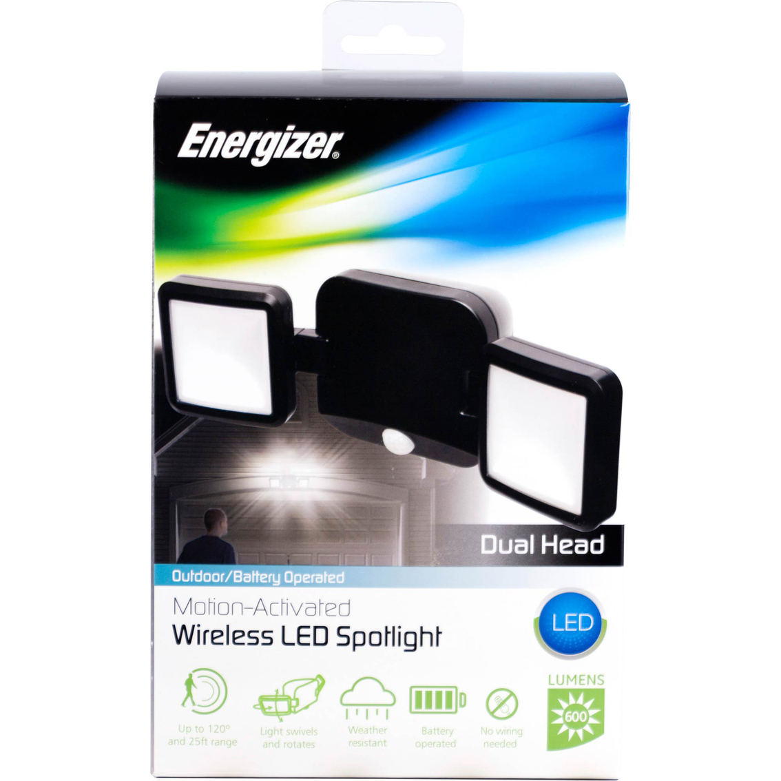 Wondrous Energizer Dual Head Motion Sensing Battery Operated Outdoor Security Wiring 101 Archstreekradiomeanderfmnl