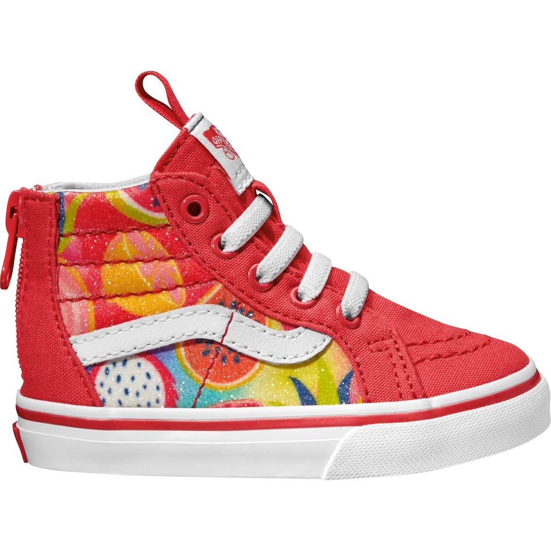 b72b5ddea1ac1e Vans Little Girls Sk8 Hi Zip Fruit Sneakers
