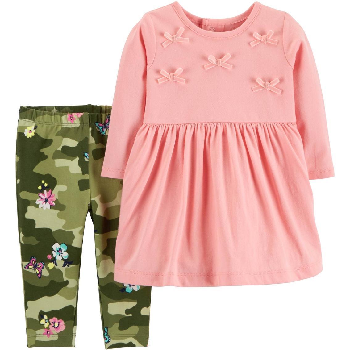 b28fabf95 Carter's Infant Girls 2 Pc. Dress And Leggings Set   Baby Girl 0-24 ...