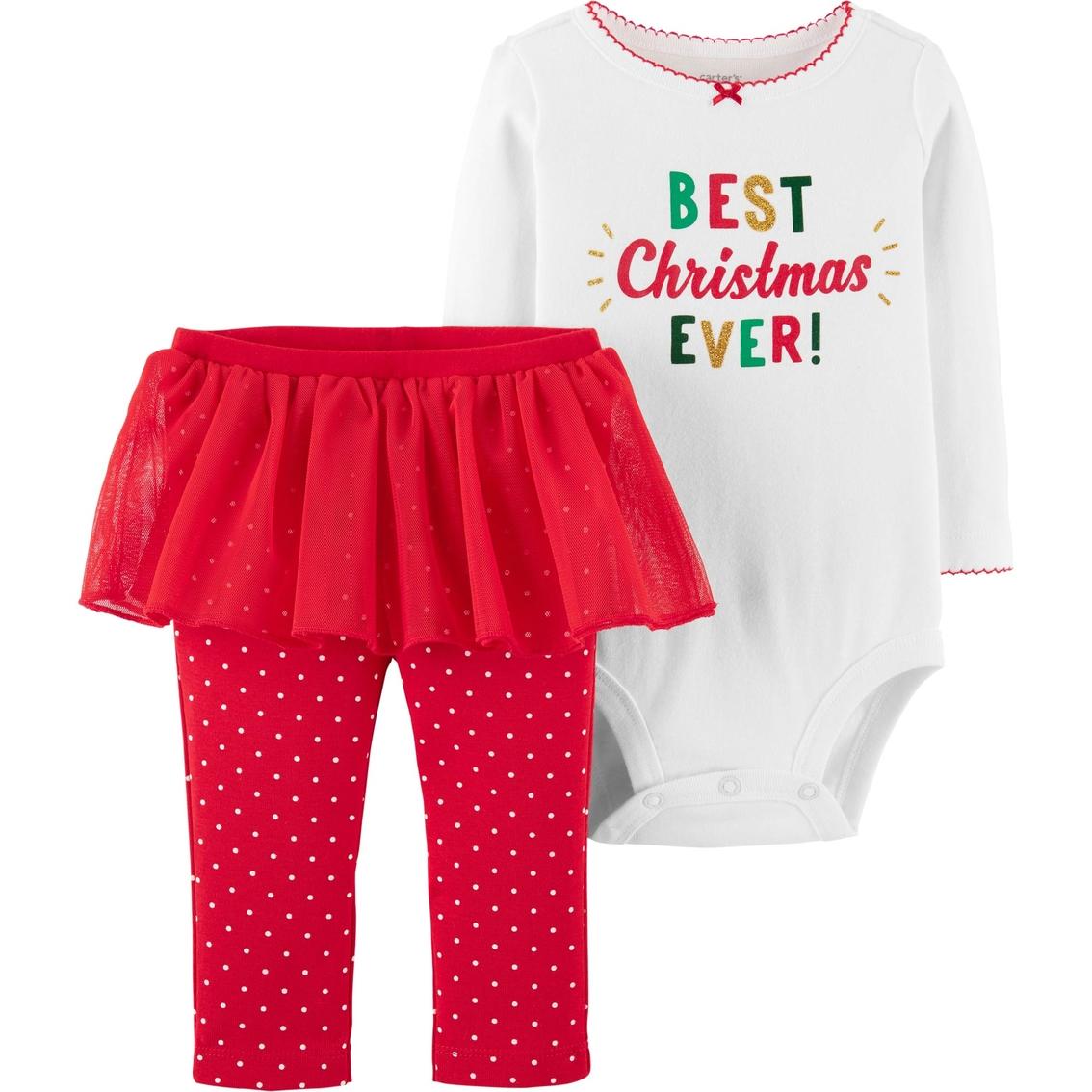 105a3f9d5f9e Carter s Infant Girls 2 Pc. Christmas Bodysuit And Tutu Pants Set ...