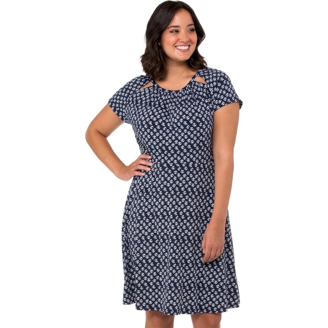 Michael Kors Plus Size Abstract Batik Floral Dress | Dresses ...