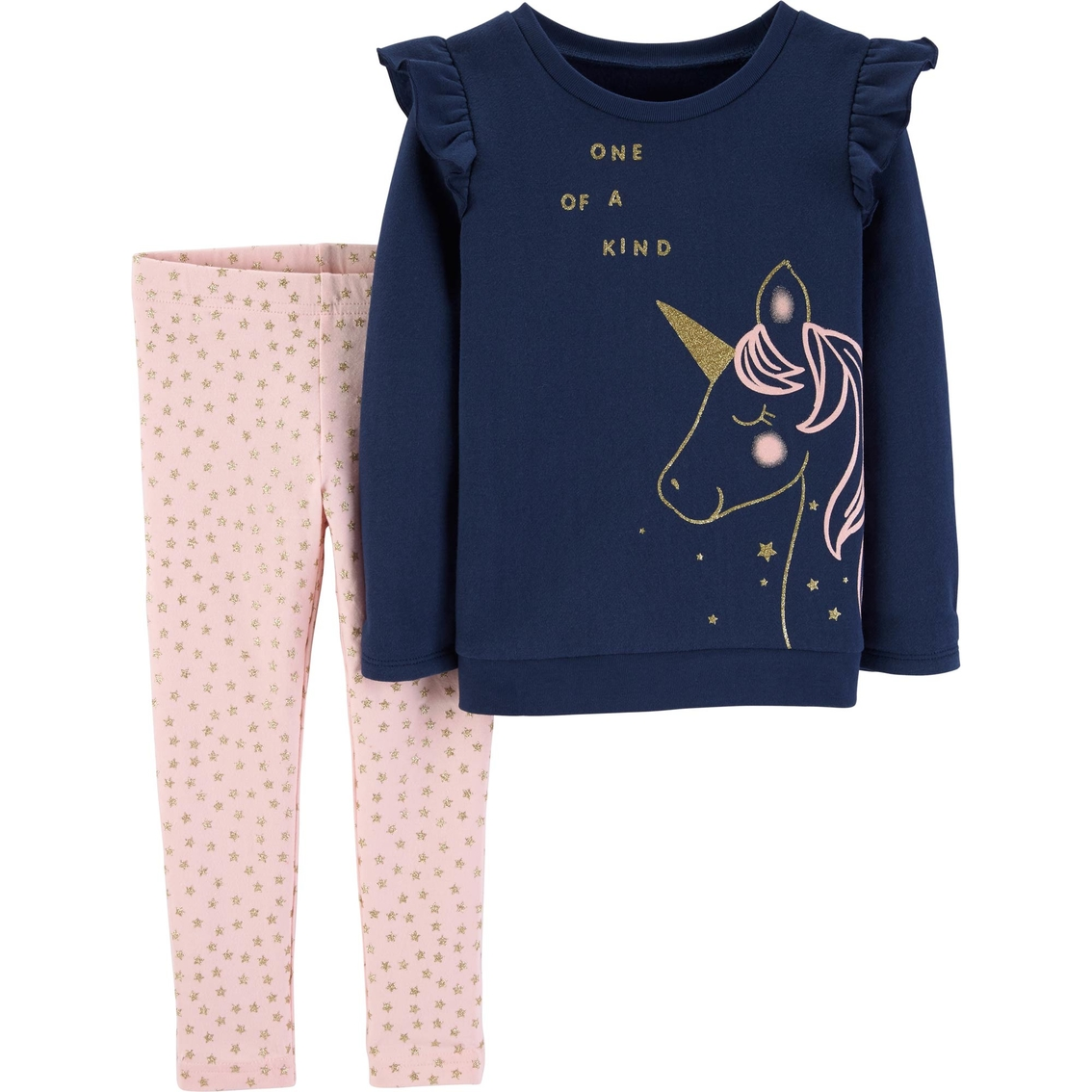 06f2a7aa7a38a Carter's Toddler Girls 2 pc. Unicorn Fleece Top and Star Leggings Set