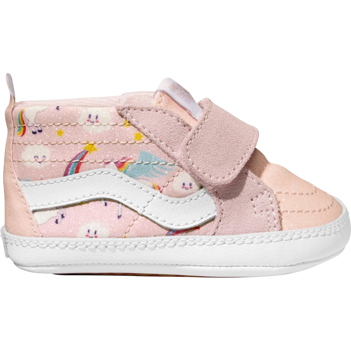 f254a7377c Vans Infant Girls Sk8-hi Glitter Pegasus Crib Shoes