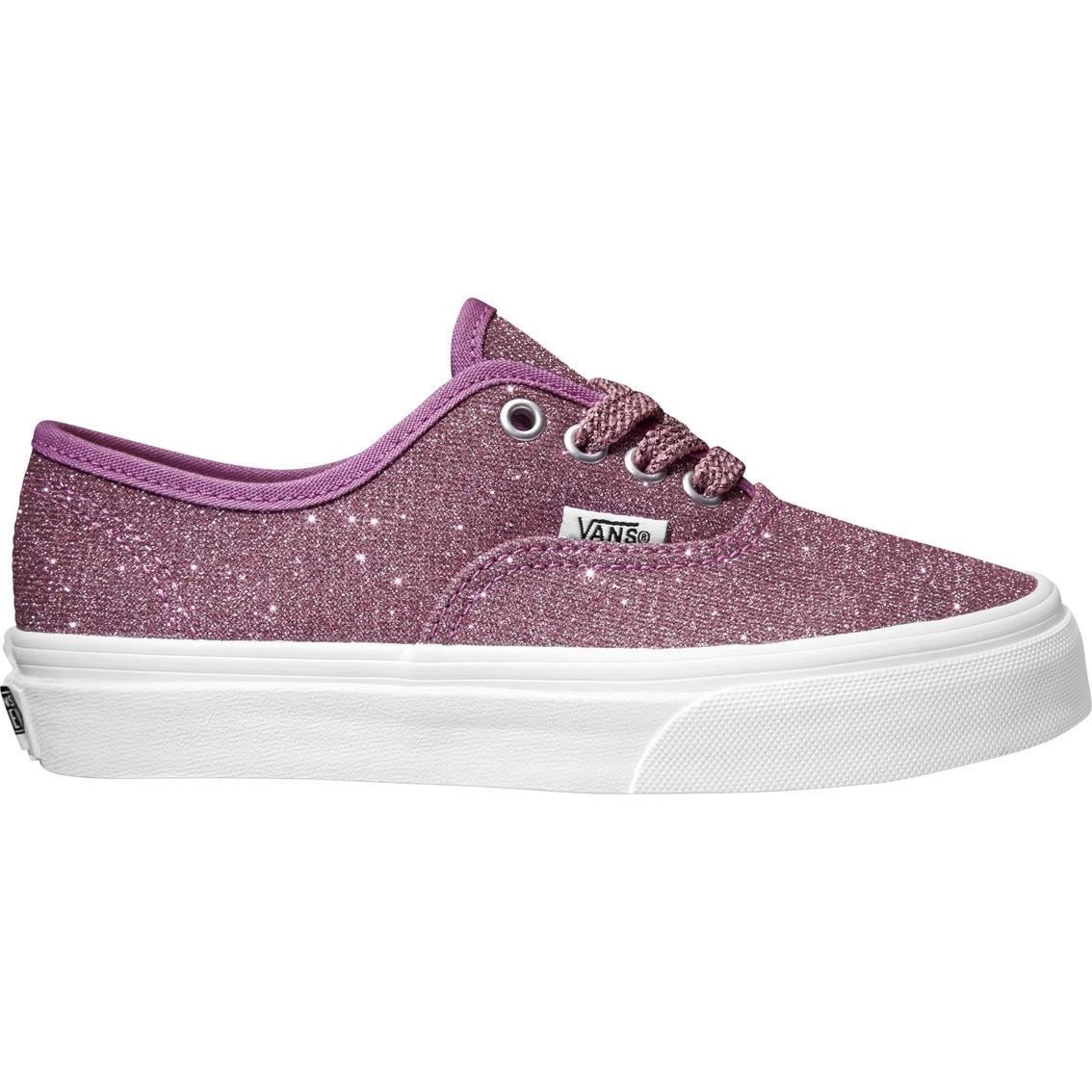 a27e7995d33 Vans Girls Authentic Lurex Glitter Shoes