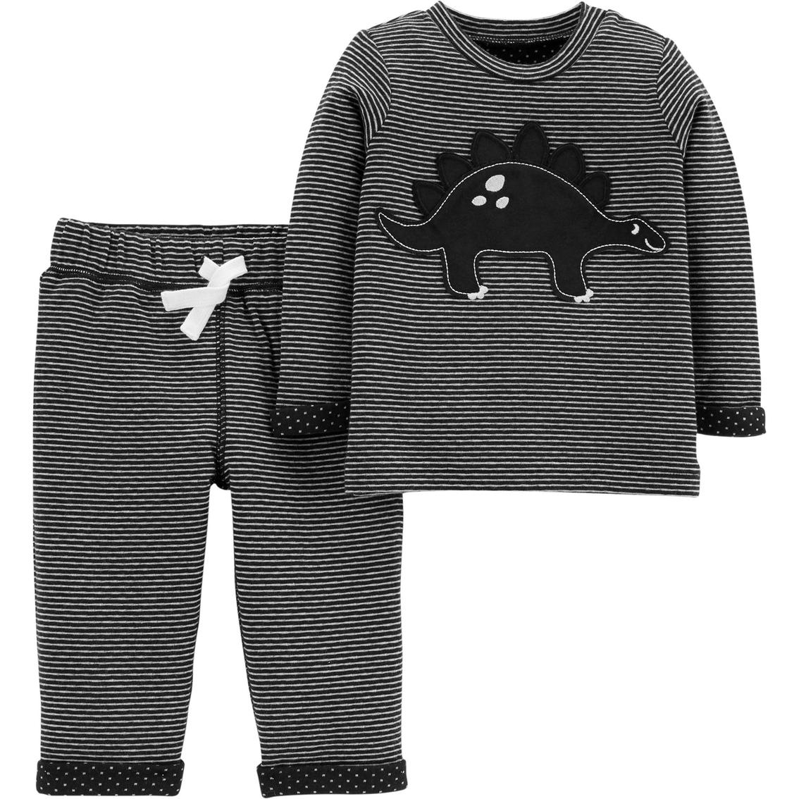 916f3a53c Carter s Infant Boys 2 Pc. Dinosaur Shirt And Reversible Pants Set ...