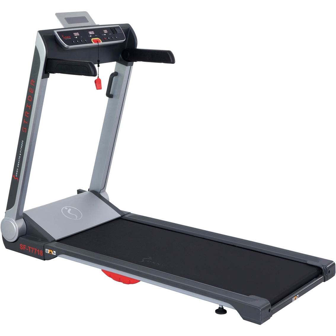 Sunny health & fitness strider treadmill with 20 in. wide lopro deck