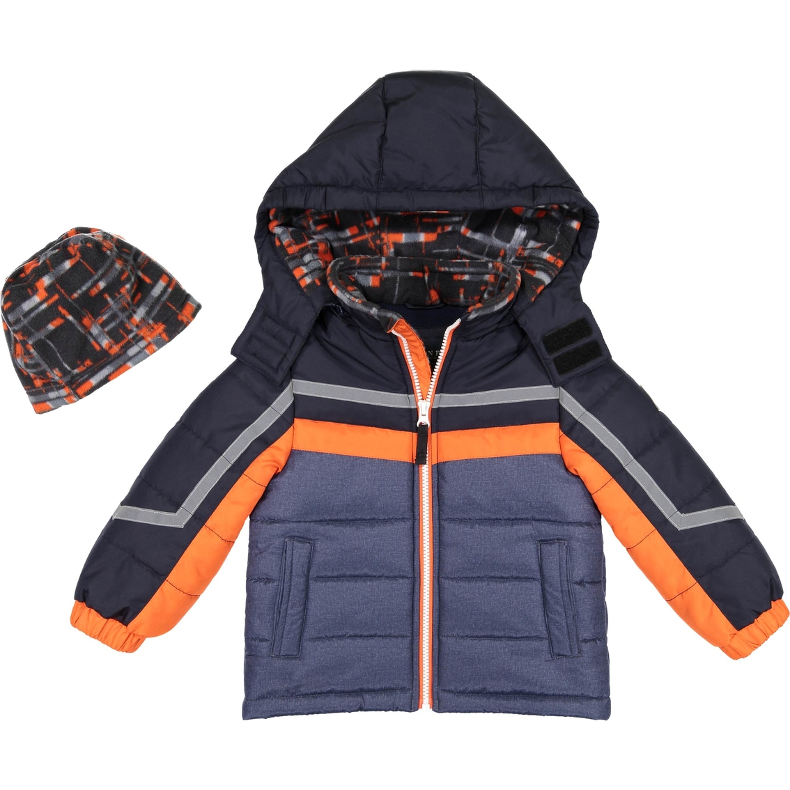 3cf09e71f London Fog Little Boys Color Block Puffer Jacket