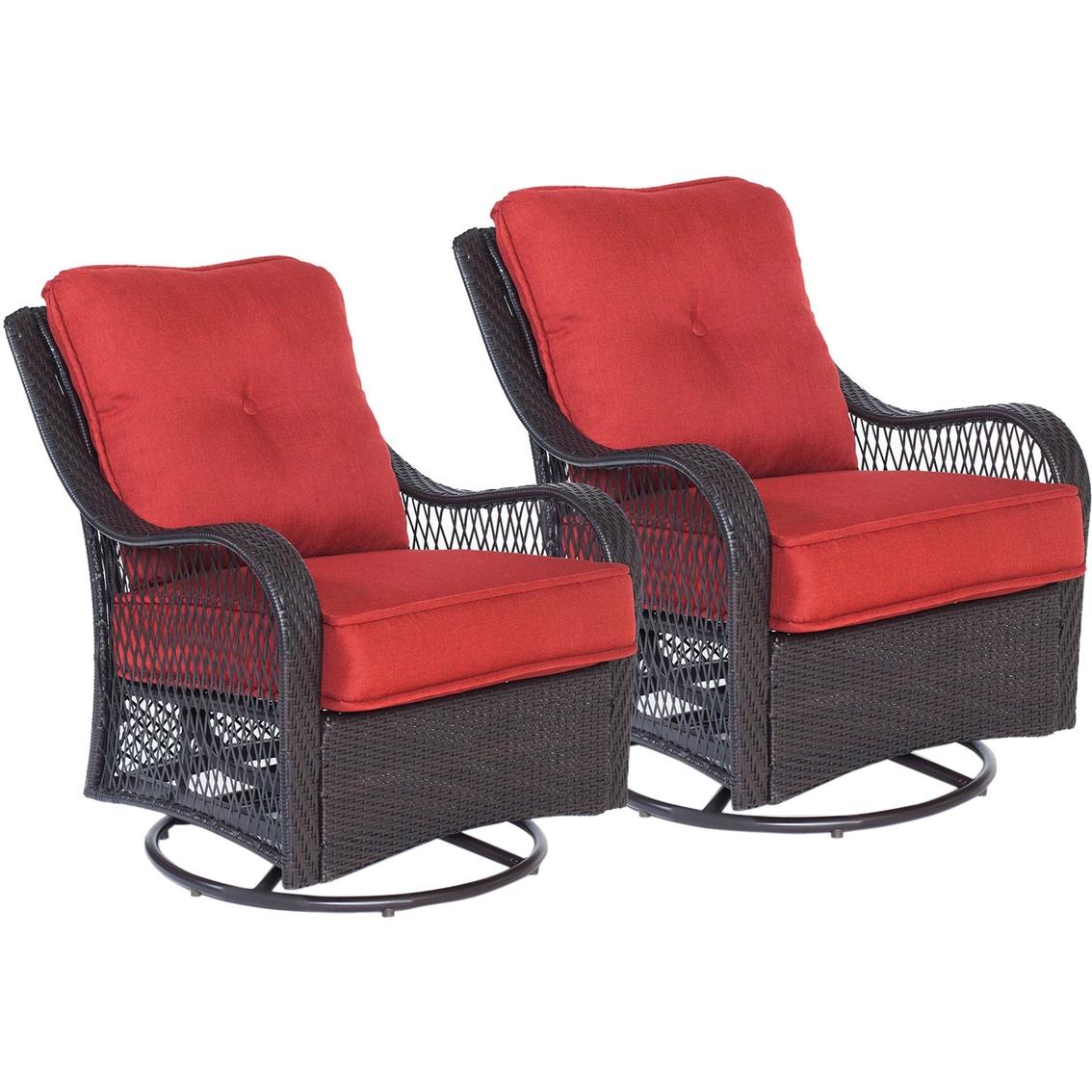 Peachy Hanover Orleans Swivel Rocking Chairs 2 Pk Patio Sets Cjindustries Chair Design For Home Cjindustriesco