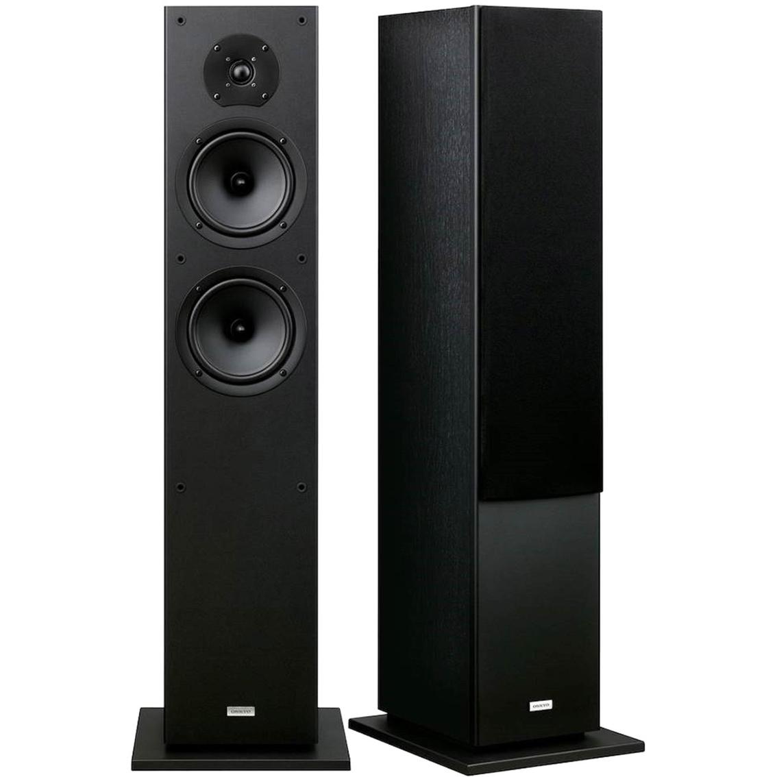 onkyo 130w 2 way bass reflex front speakers pair floor. Black Bedroom Furniture Sets. Home Design Ideas