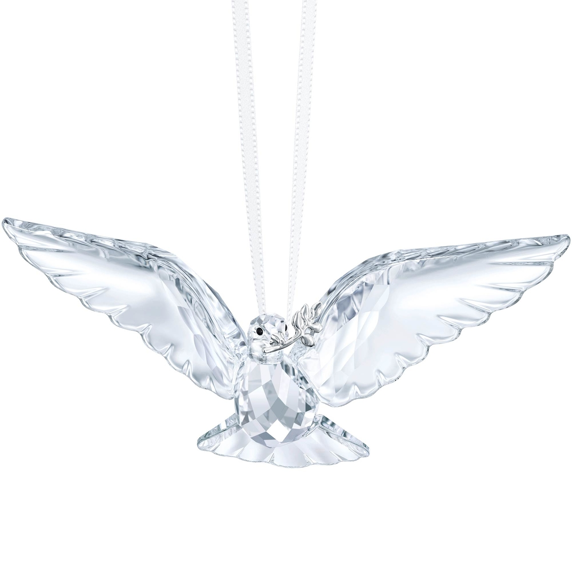 Christmas Tree Doves: Swarovski Peace Dove Ornament