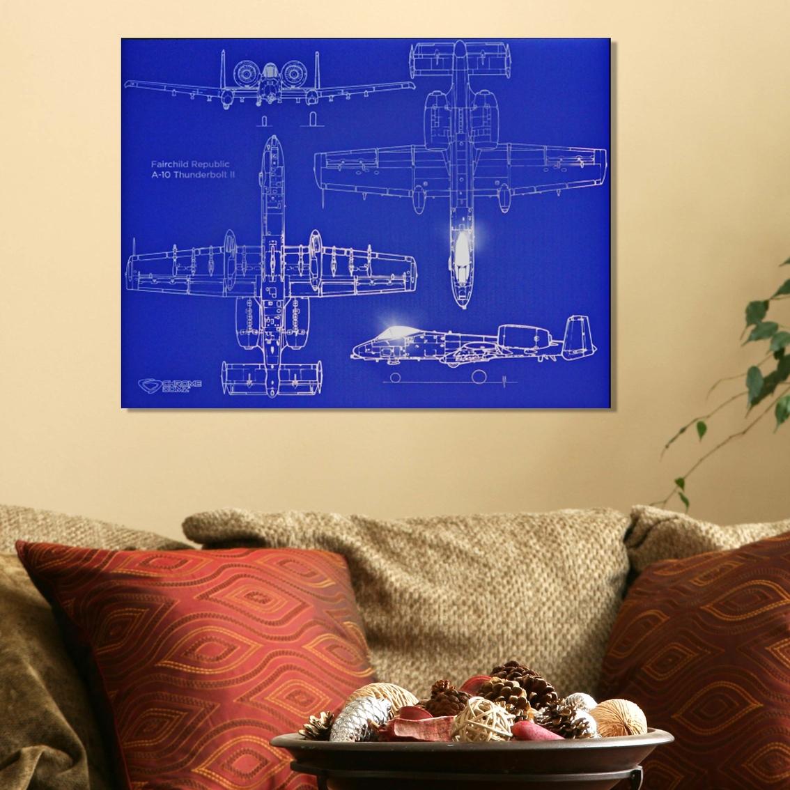 Chrome Domz Ss A-10 Tbii Blueprint Art   Home Decor   Military ...