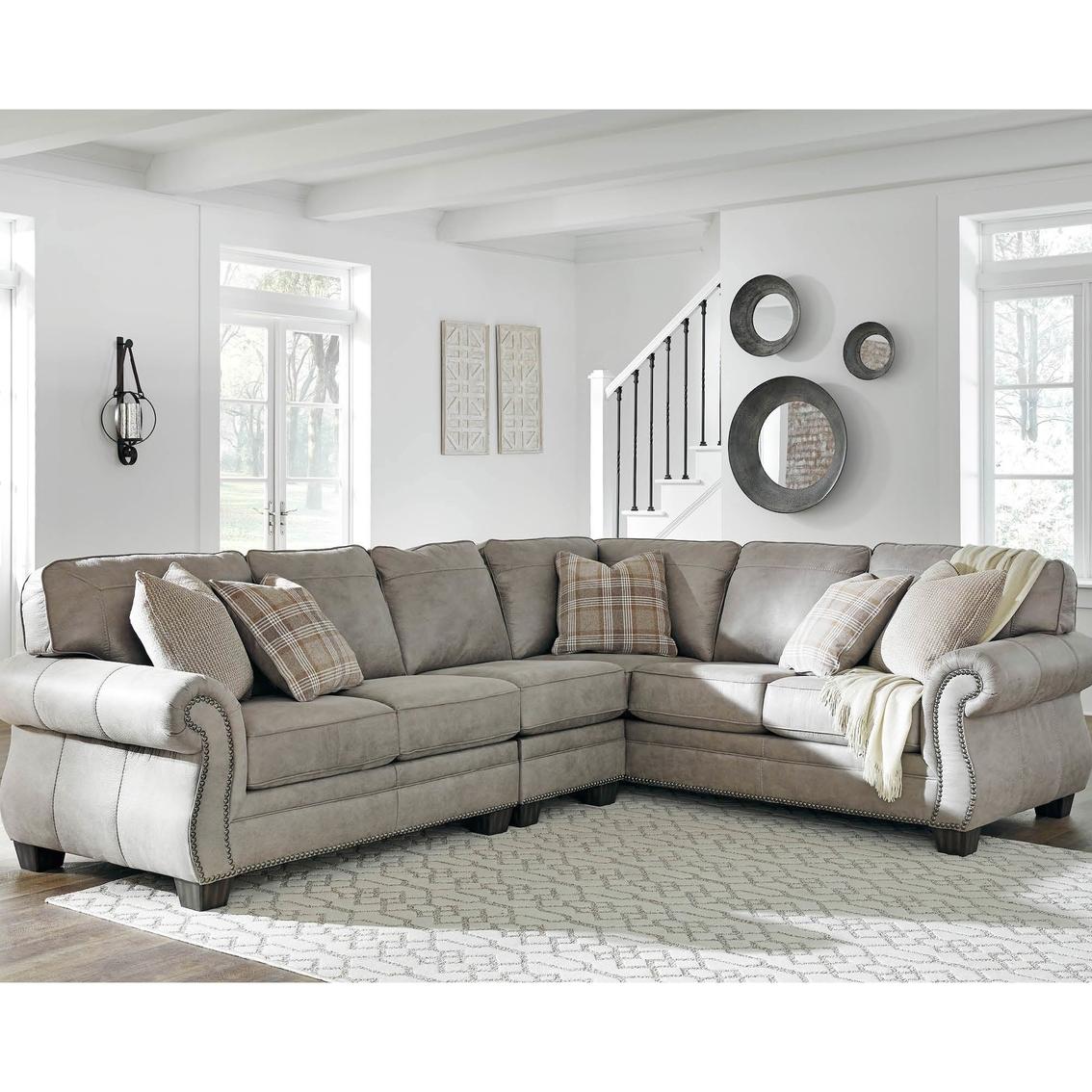 Terrific Signature Design By Ashley Olsberg 3 Pc Sectional Laf Sofa Machost Co Dining Chair Design Ideas Machostcouk