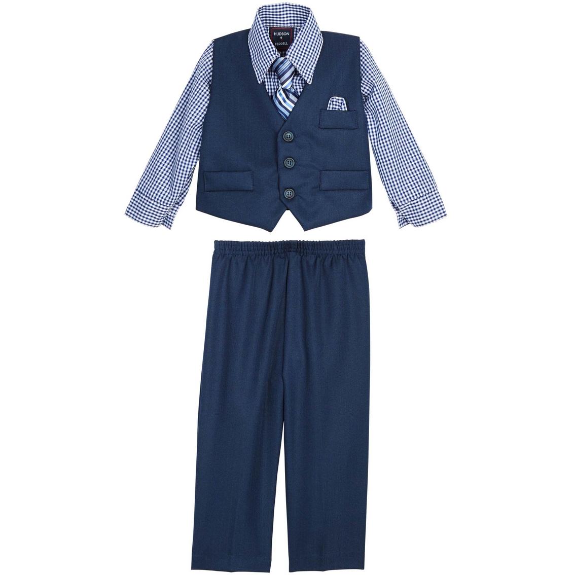 6616a3e8c Hudson Ferrell Infant Boys Dino Navy 4 Pc. Vest Set
