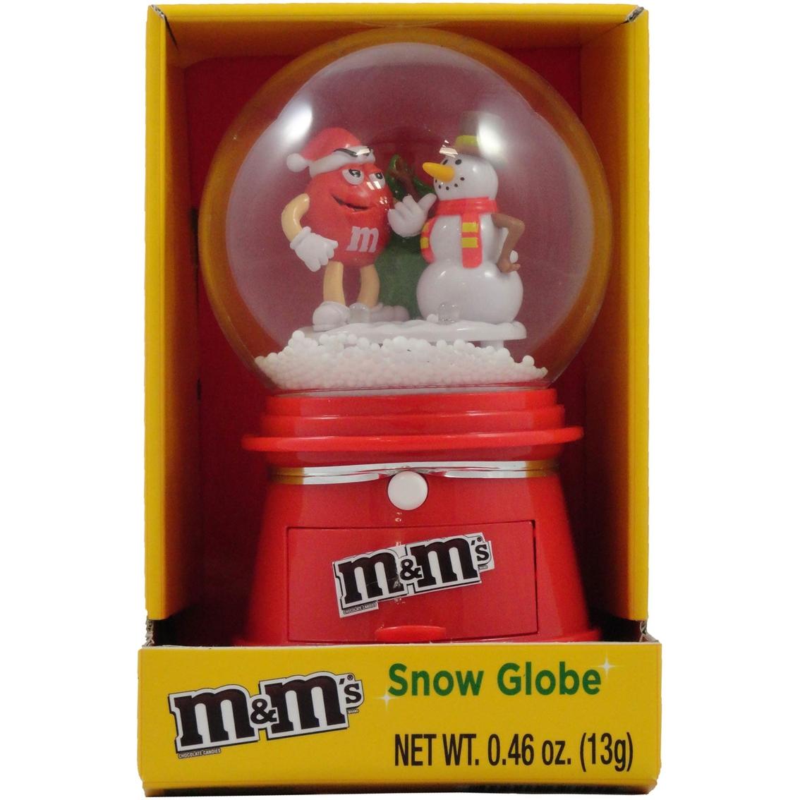 M&M Christmas Winter Snow Globe With Chocolate Candies