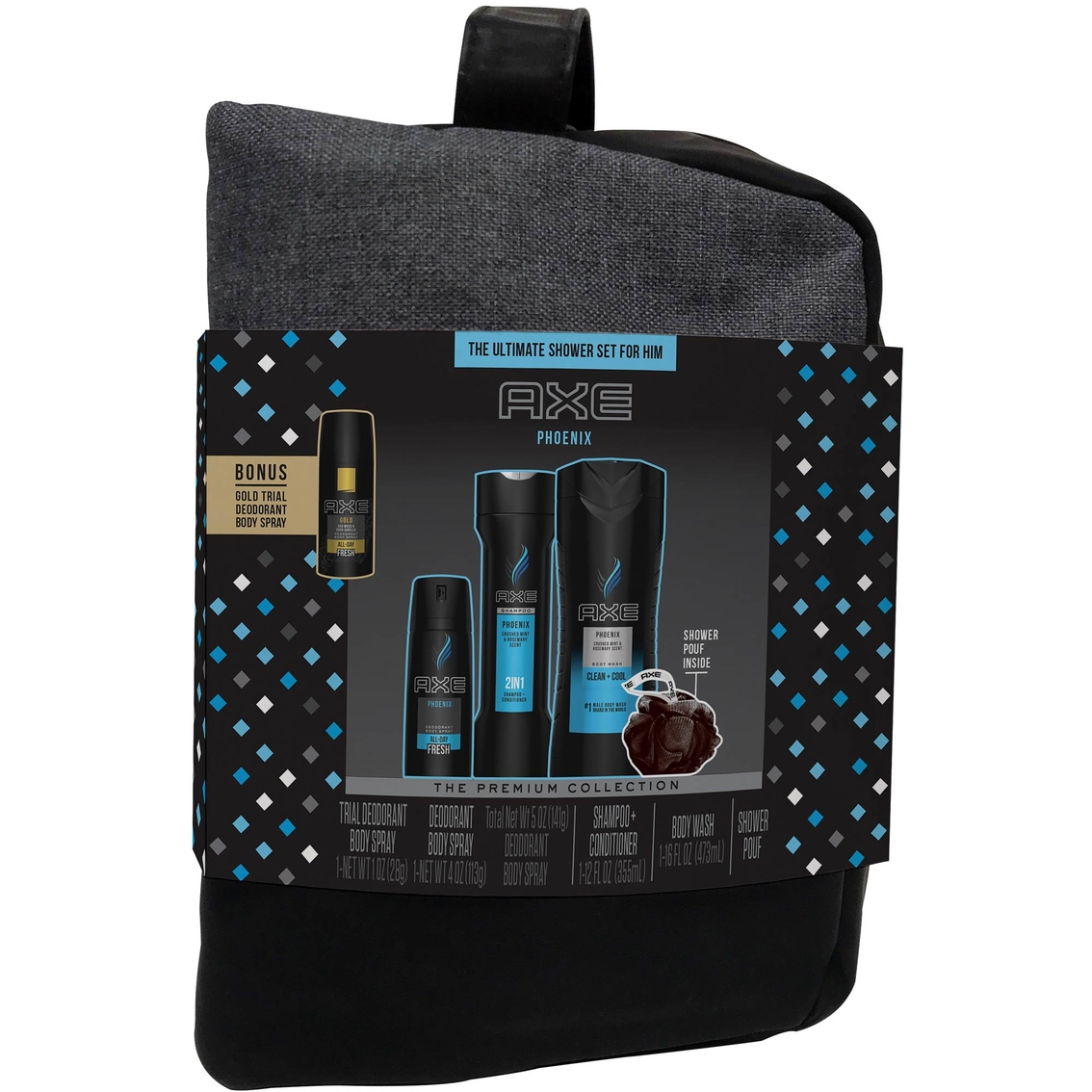 dd170b54eab Axe Phoenix Gift Set For Men With Shower Bag 4 Pc.   Body   Hair ...