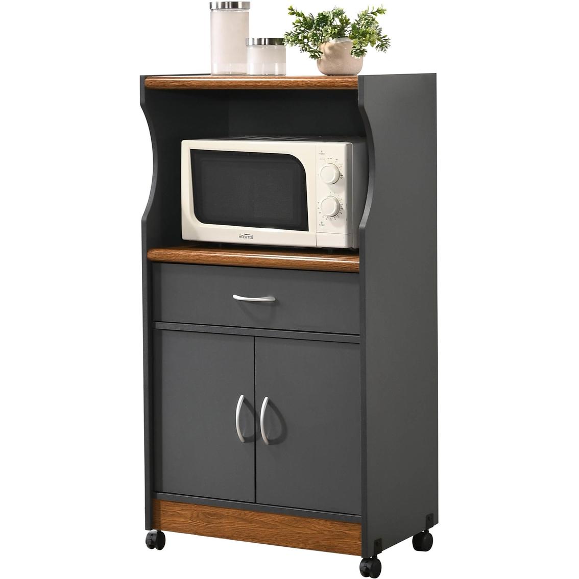 Hodedah Microwave Kitchen Cart | Kitchen Carts & Islands ...