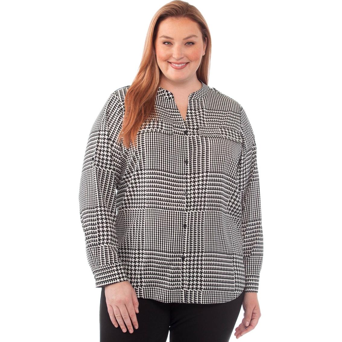 b1153d113b4 Calvin Klein Plus Size Roll Sleeved Blouse