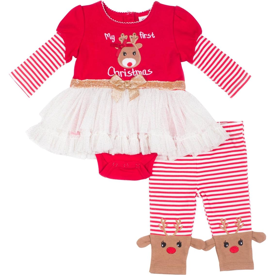 de09f95687330 Little Lass Infant Girls 2 Pc. Reindeer Creeper Set | Baby Girl 0-24 ...