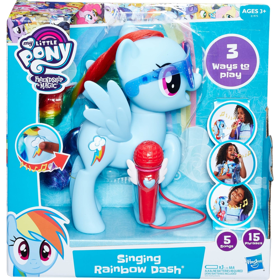 Hasbro My Little Pony Rainbow Power Action Figure Kid Girl Pretend Play Doll Toy