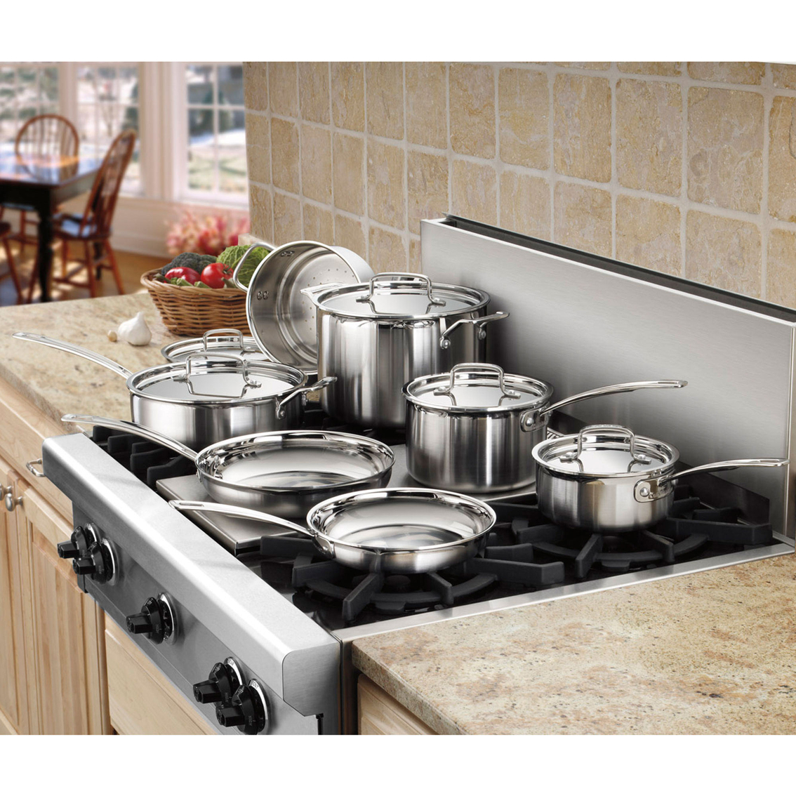 Cuisinart Multiclad Pro Triple Ply Stainless Steel 12 Pc Cookware Set