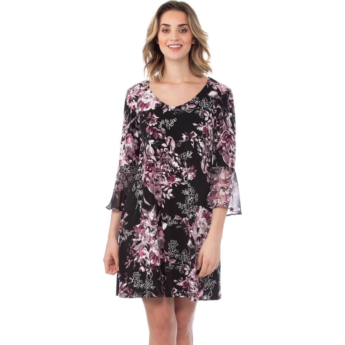 735f37dac25 Connected A-line Print Chiffon Dress