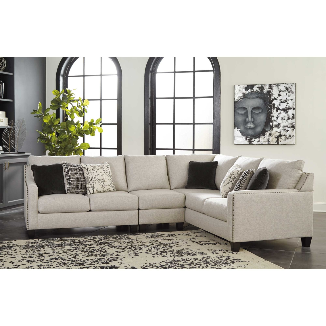 Signature Design By Ashley Hallenberg 3 Pc Sectional Raf Sofa Laf Loveseat Chair Sofas Couches Furniture Appliances Shop The Exchange