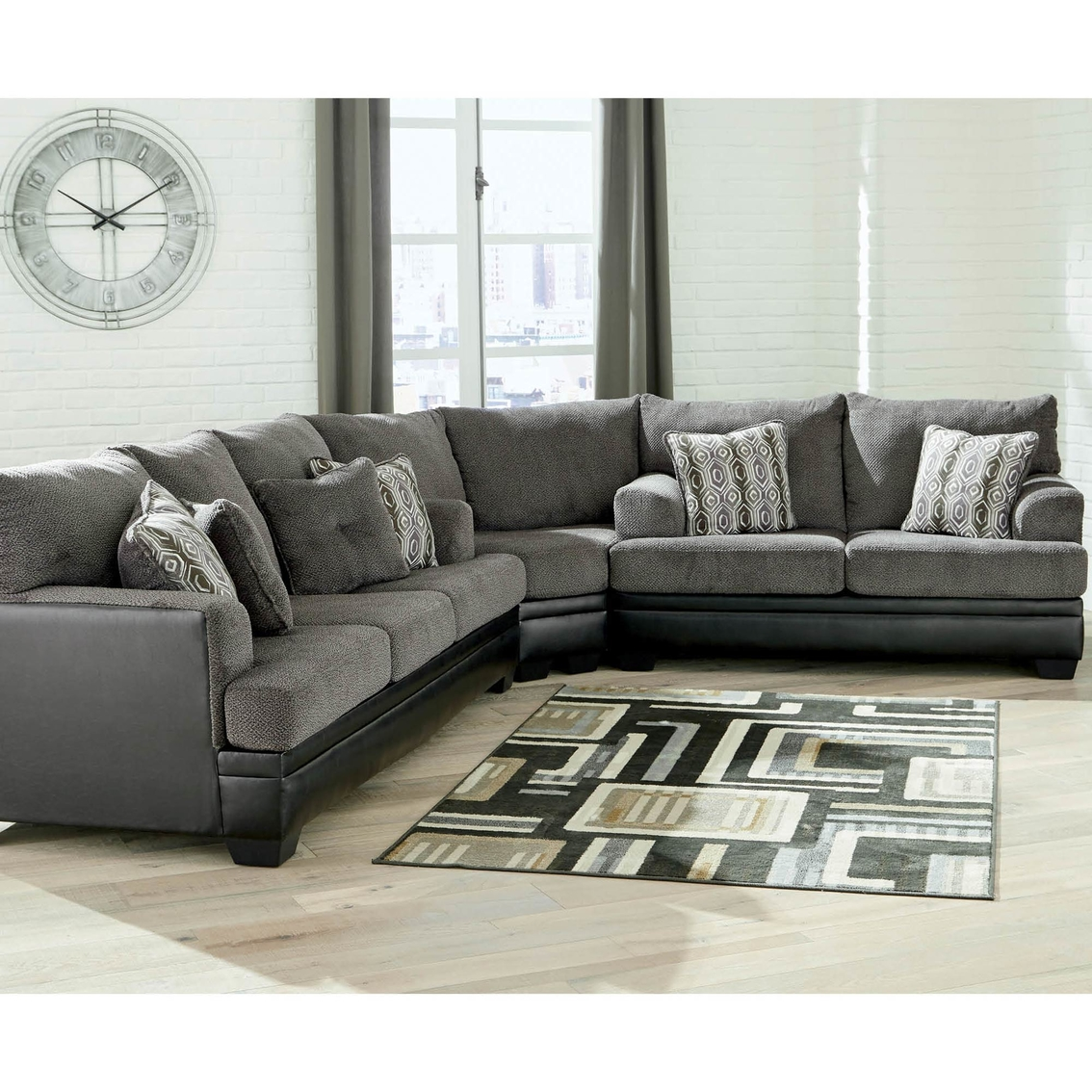 Signature Design By Ashley Millingar 3 Pc Sectional Sofa Loveseat
