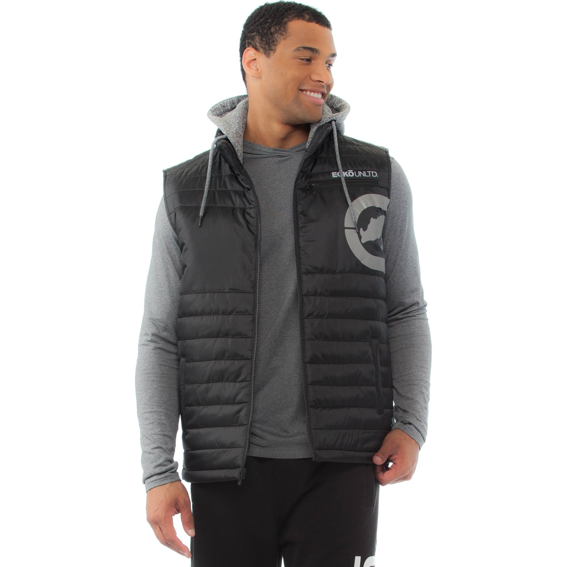 Quilted Vest Unlimited Hoodie Ecko Apparel Young Rhino Men's Pw1ZEBxq