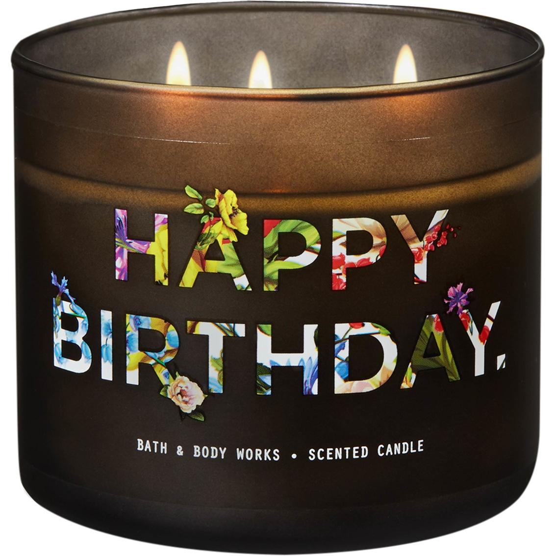 Bath Body Works Happy Birthday Pink Lemonade Pound Cake 3 Wick Candle